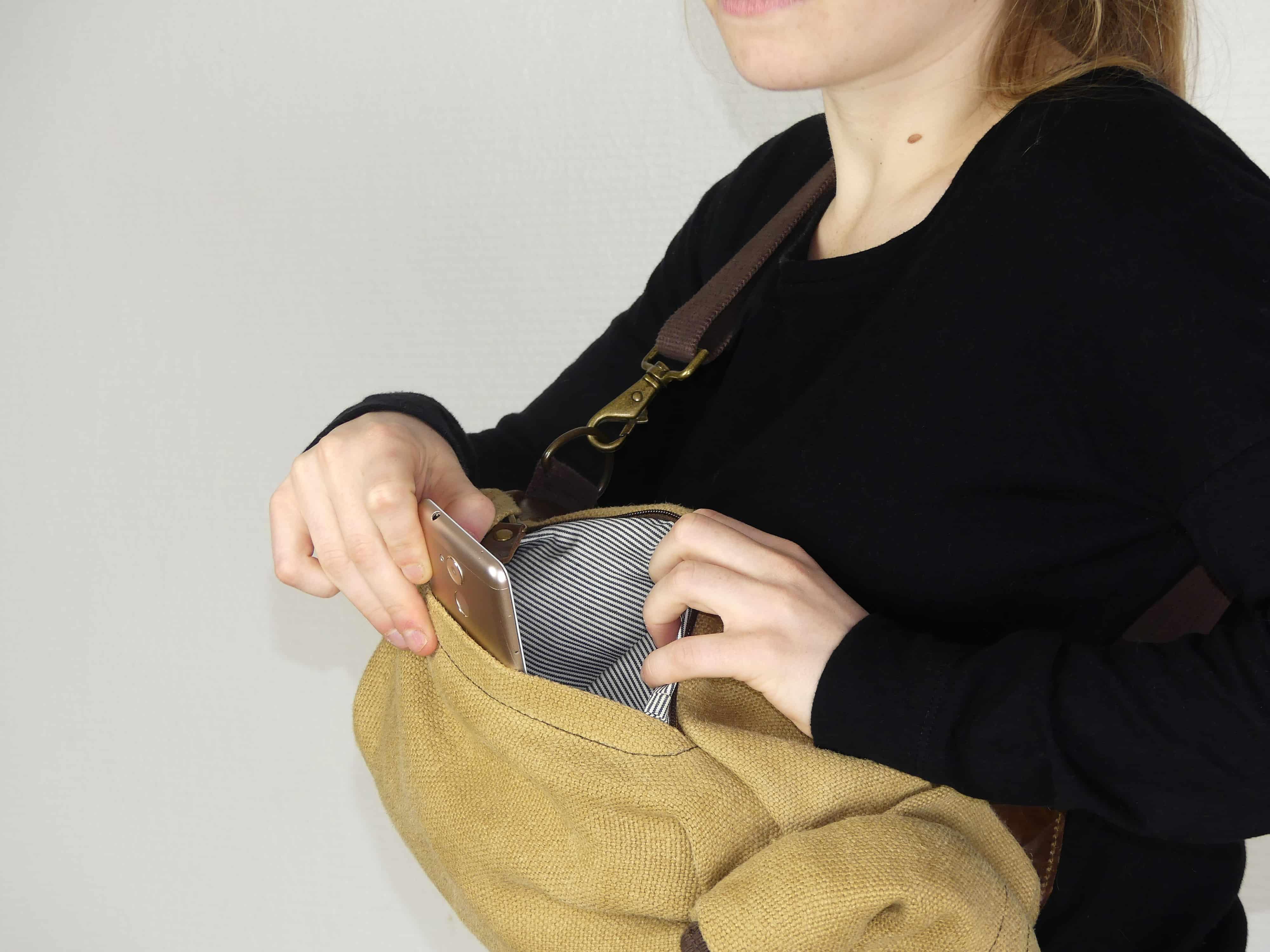 Petit sac à dos bandoulière, balish - le baluchon - Bhallot num 4