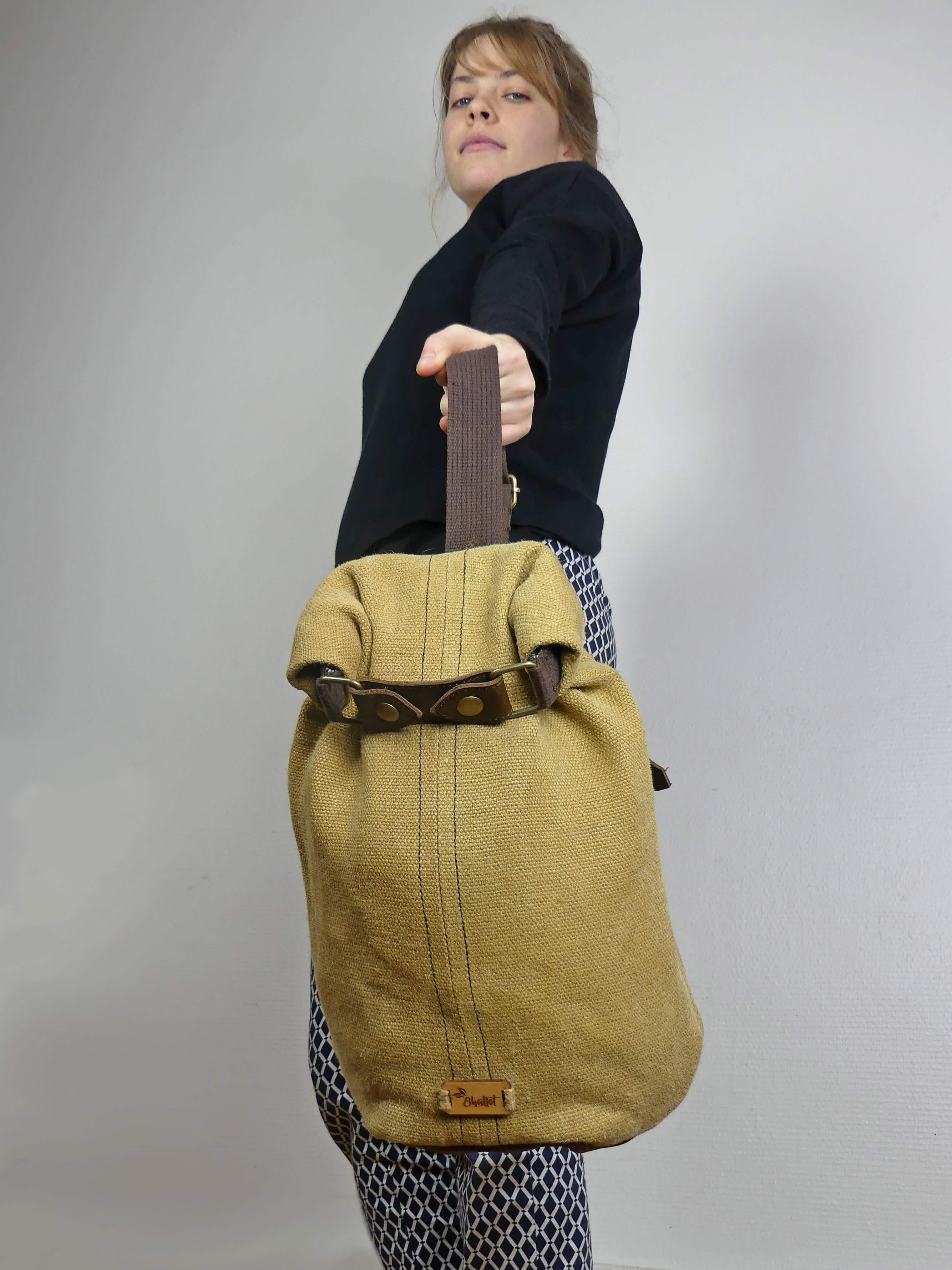 Petit sac à dos bandoulière, balish - le baluchon - Bhallot num 7