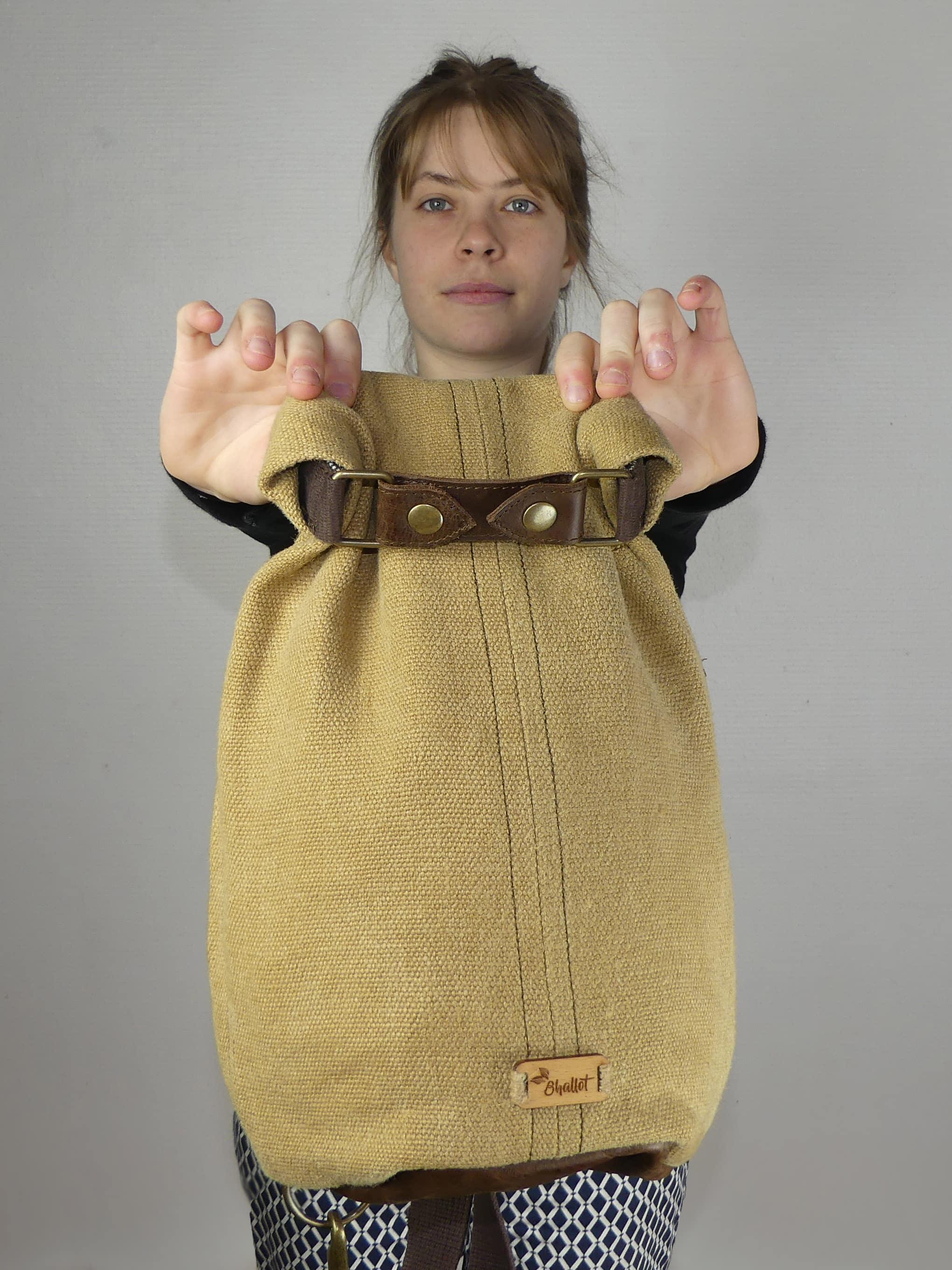 Petit sac à dos bandoulière, balish - le baluchon - Bhallot num 6