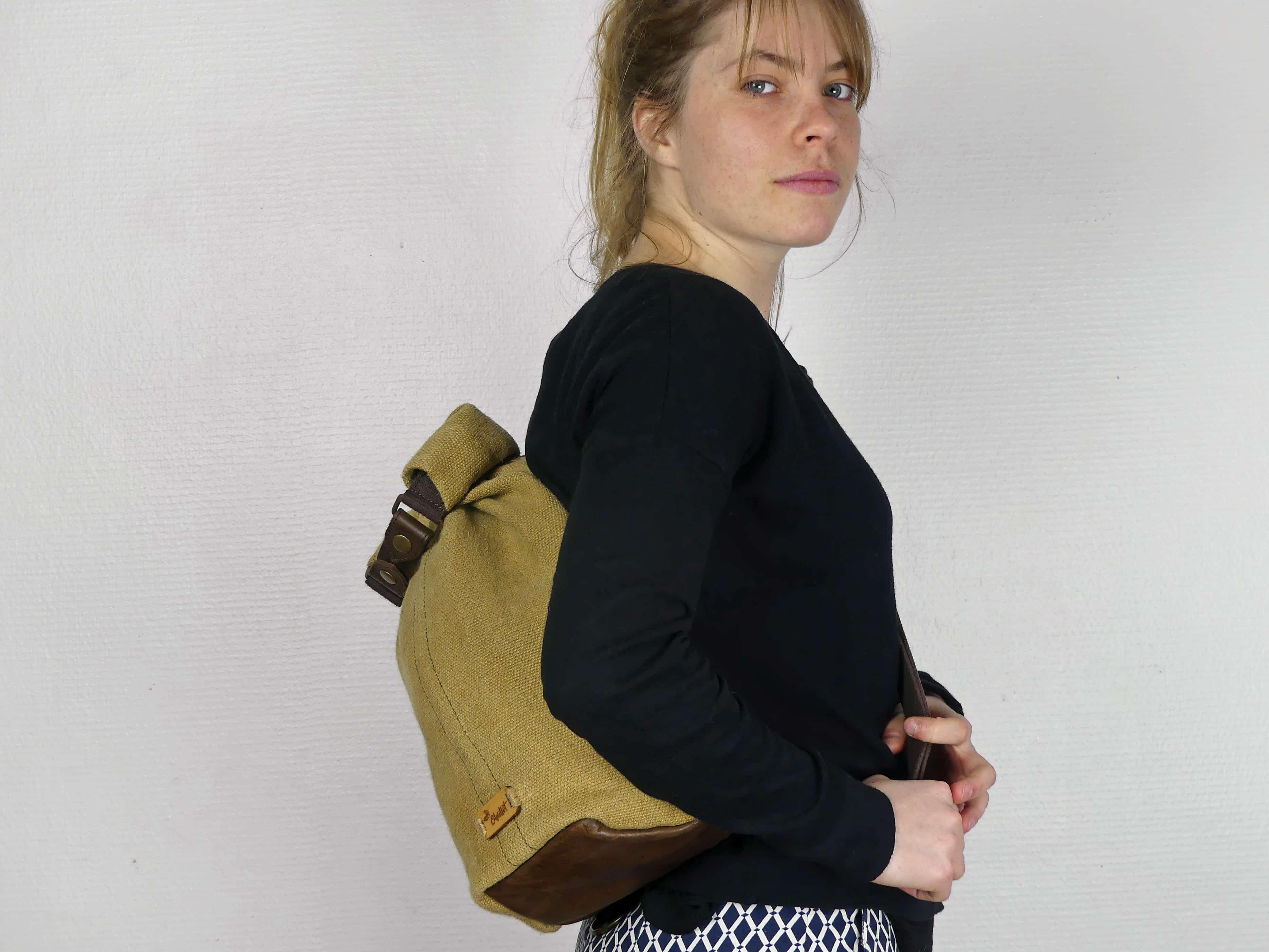 Petit sac à dos bandoulière, balish - le baluchon - Bhallot num 1