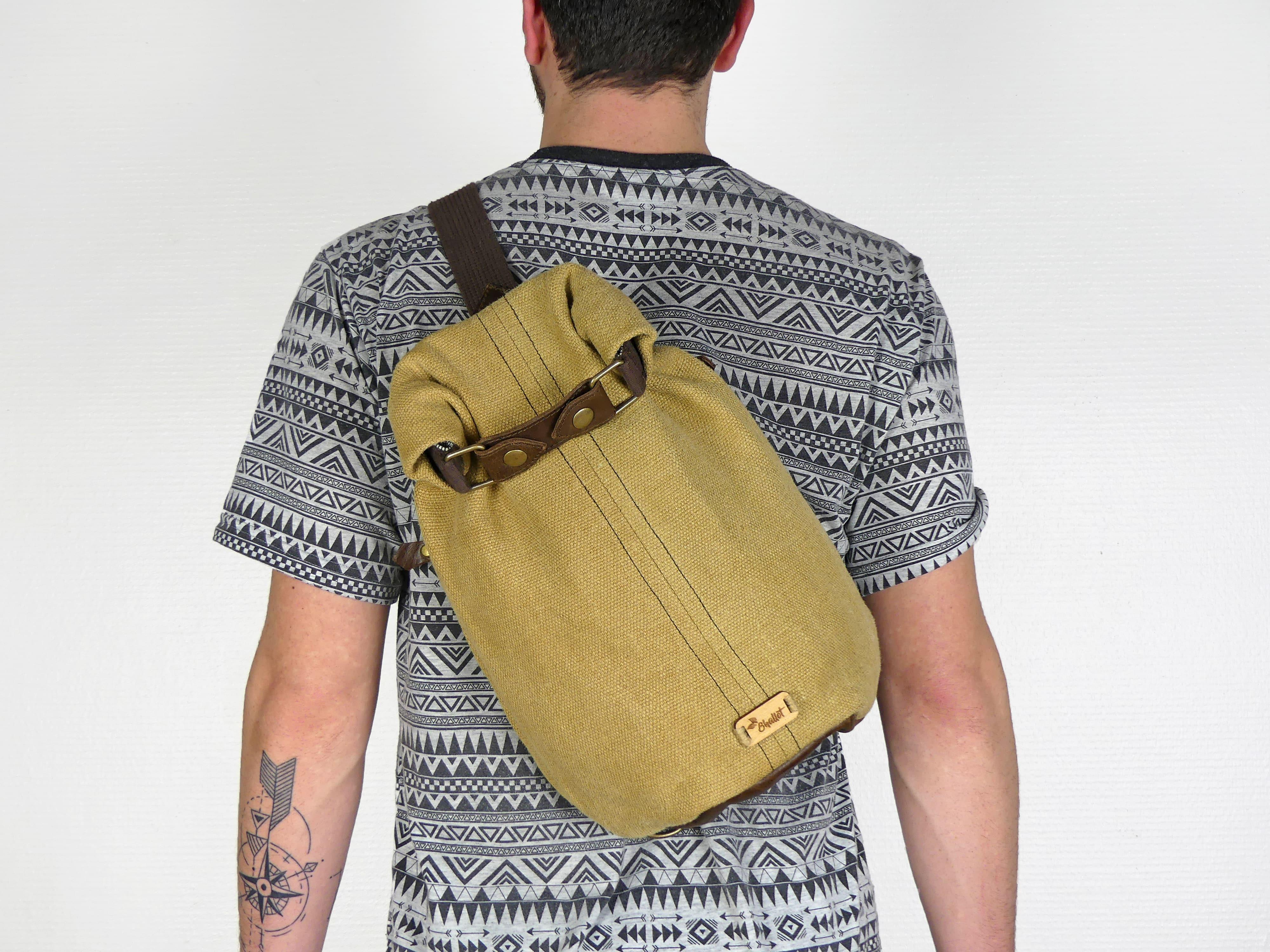 Petit sac à dos bandoulière, balish - le baluchon - Bhallot num 8