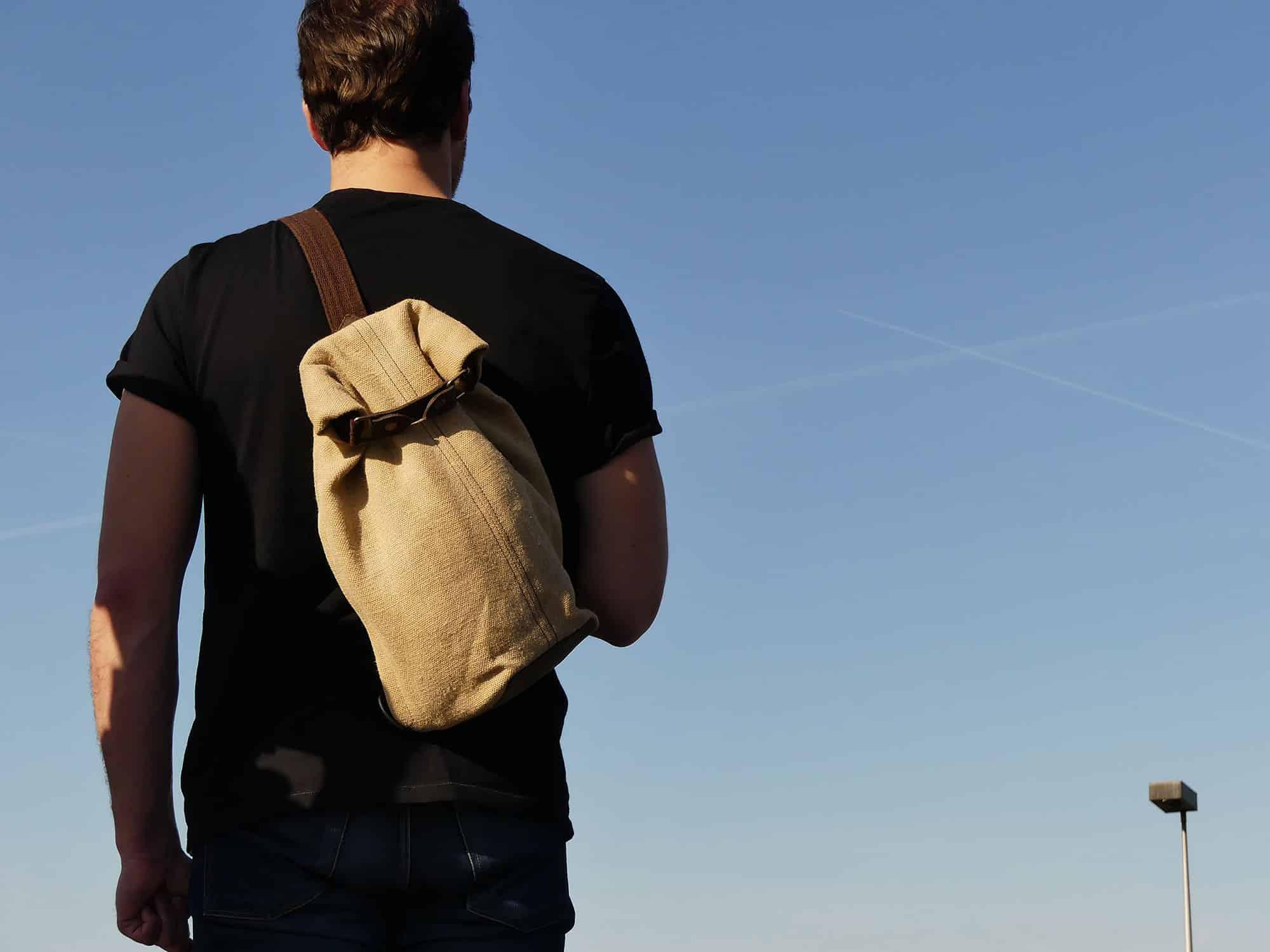 Petit sac à dos bandoulière, balish - le baluchon - Bhallot num 3