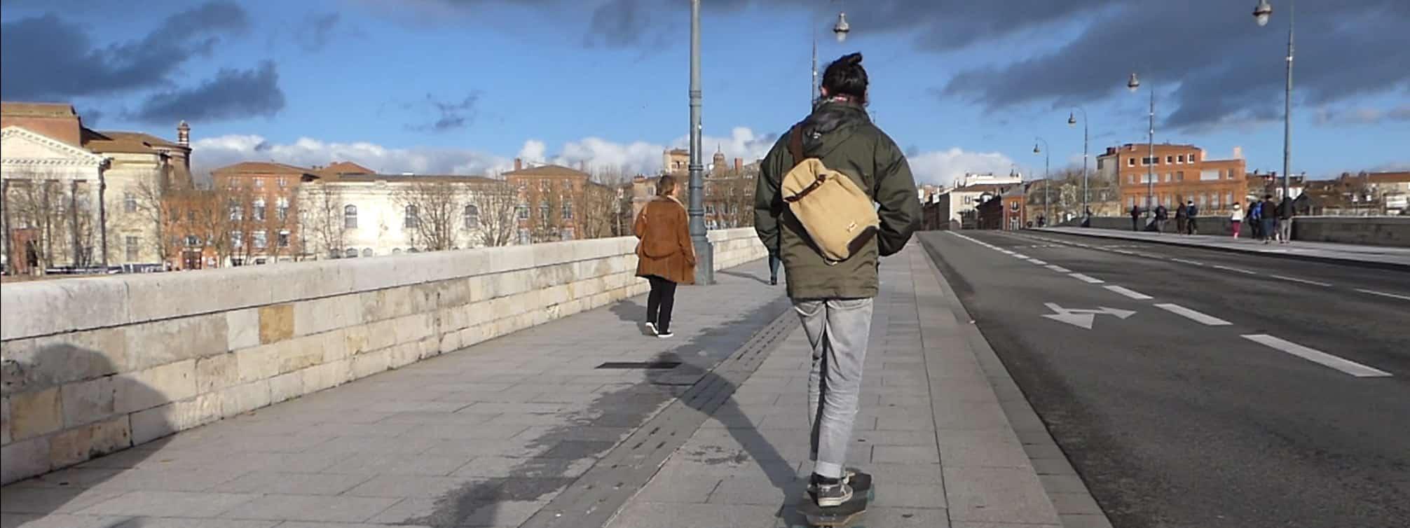 Balish - Le sac à dos bandoulière baluchon en skate 8 tiers