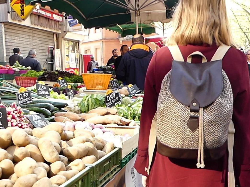 Potla - petit sac à dos femme au marché