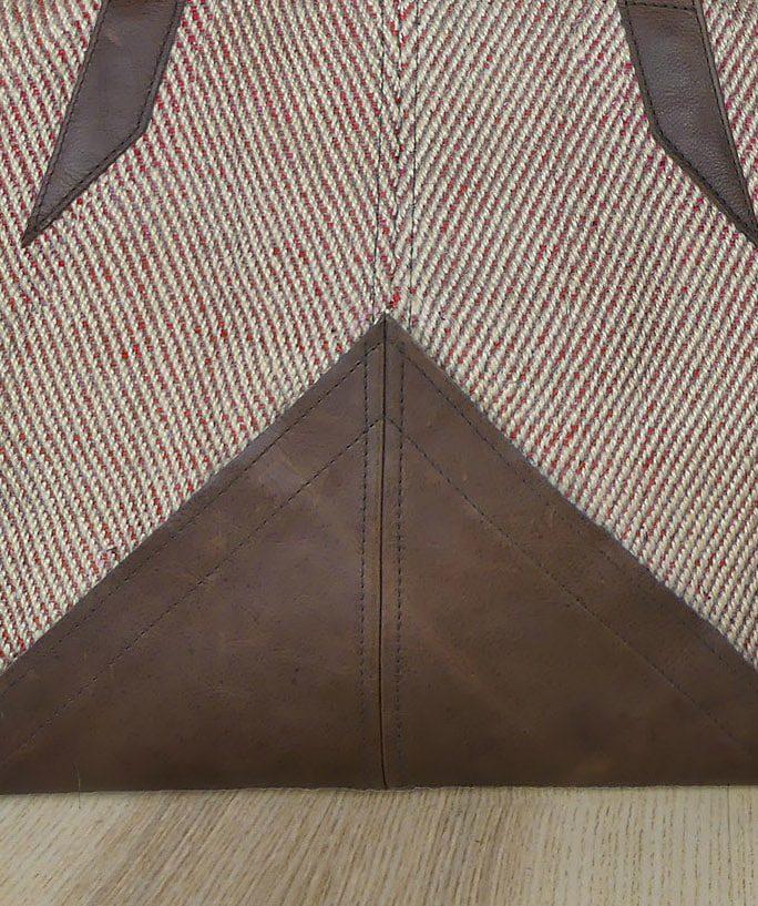 Fond cuir du sac à main cabas