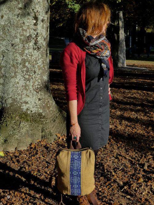Alta sac à dos végétal vegan - Bande large bleu