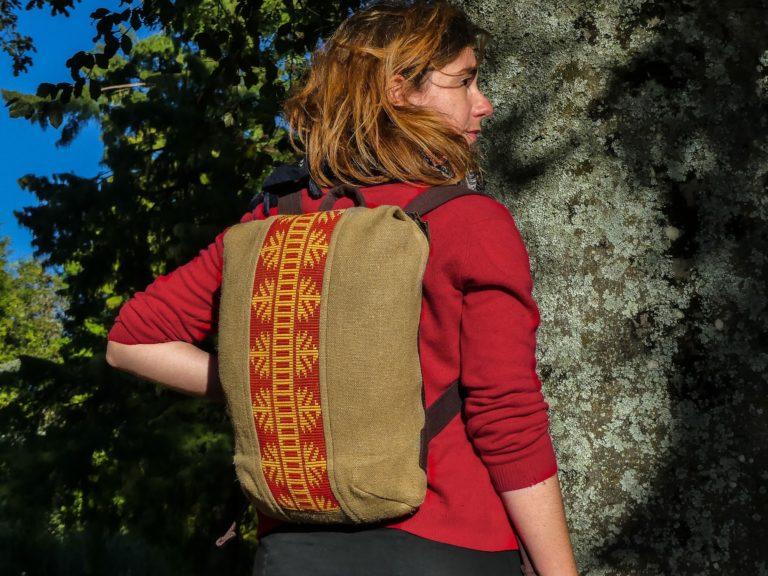 Alta sac à dos végétal vegan - Bande large rouge