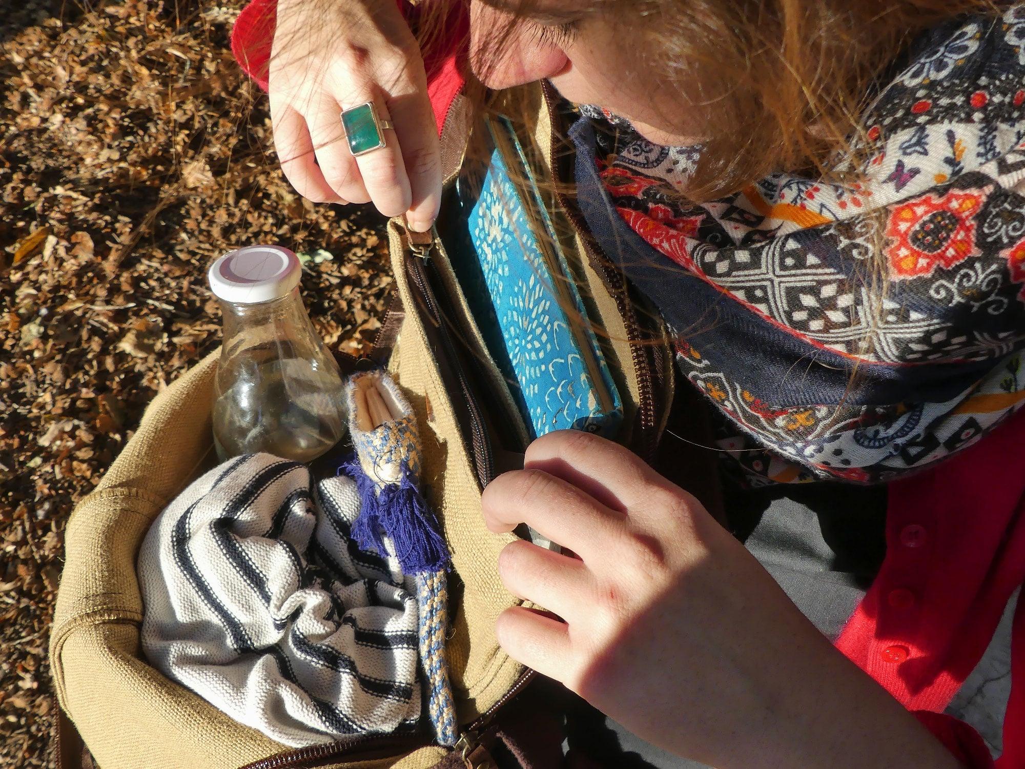 Alta sac à dos végétal vegan - ouverture poche zippée