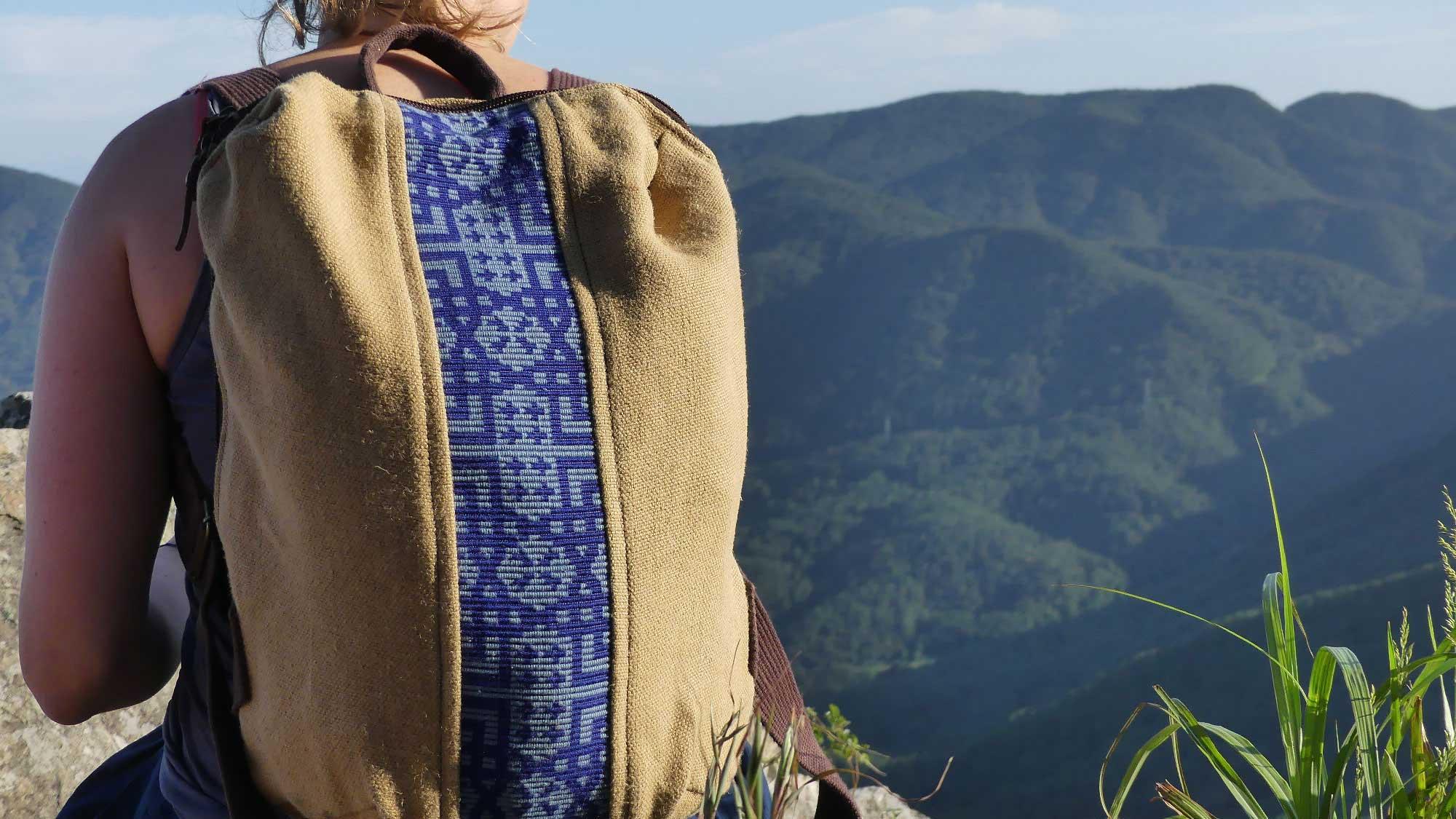 Sac à dos 100% végétal - Alta bande large bleu