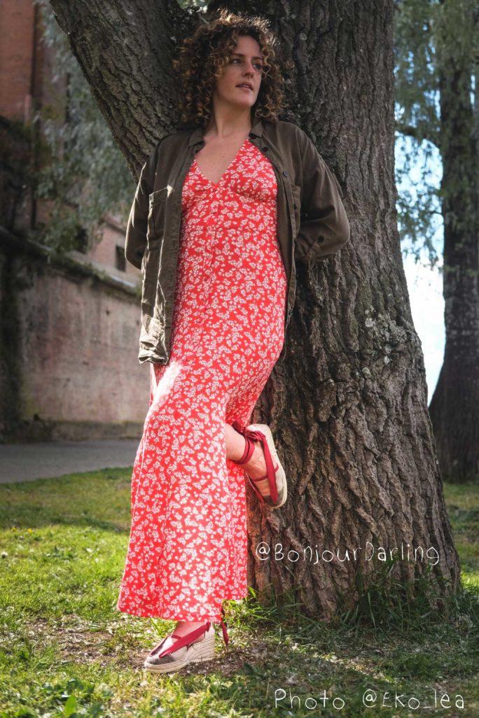 Bhallotine rouge bordeaux à talon avec Anne-laure de Bonjour Darling2