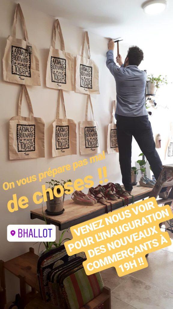 Préparation de la soirée des nouveaux commerçants à Arnaud bernard