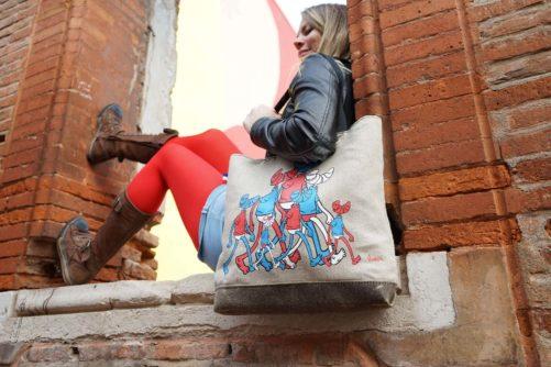Tote bag en collab SanX - Street art
