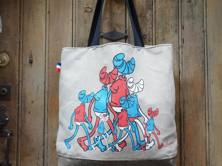 Tote bag en collab SanX