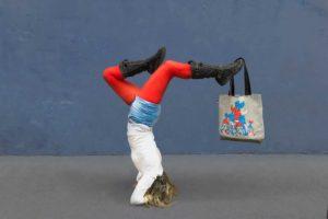 Sanx tote bag yoga rue street croissant tricolores bleu blanc rouge