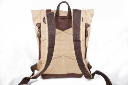 Dos sac à dos en jute ciré - Mini-bosta - Bhallot