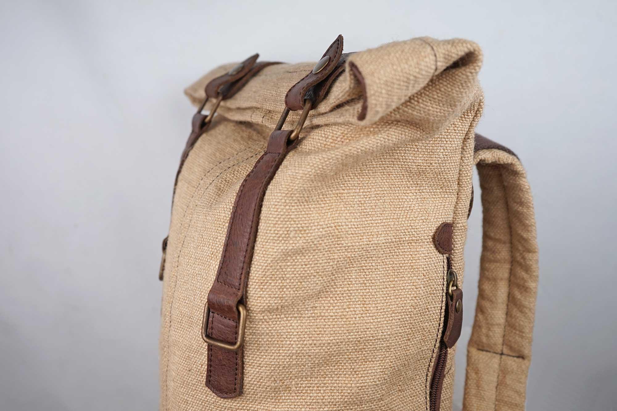 Fermeture sac à dos en jute ciré - Mini-bosta - Bhallot 2