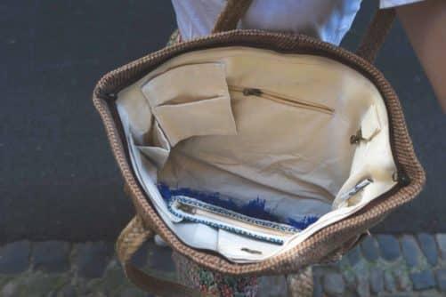 poche modulable intérieur sac à main