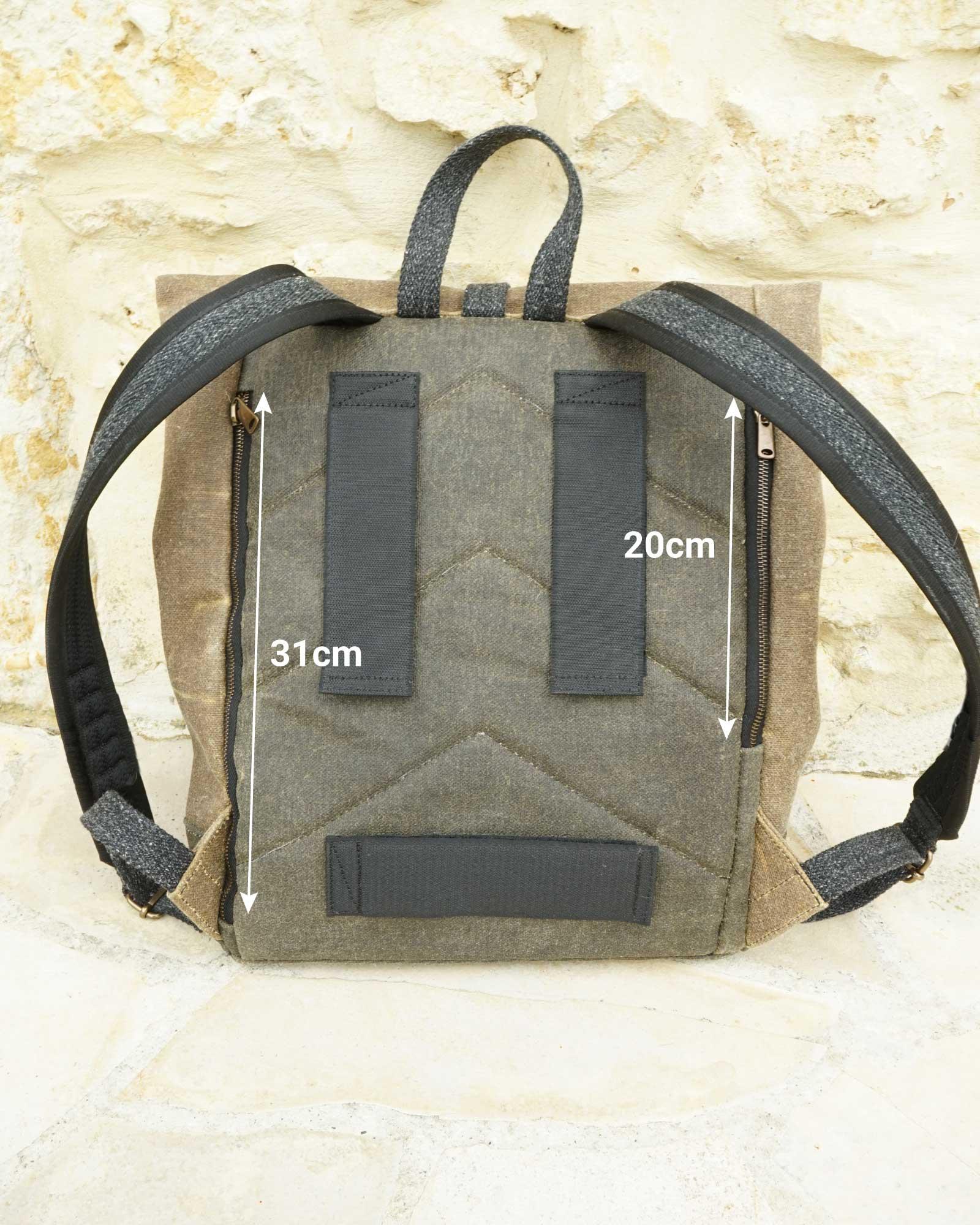 Poches extérieures du sacs à dos vélo MAURICE