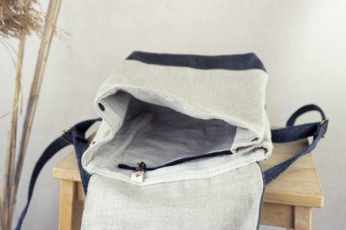 intérieur du petit sac à dos femme
